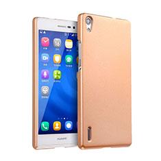 Huawei P7 Dual SIM用ハードケース プラスチック 質感もマット ファーウェイ ゴールド