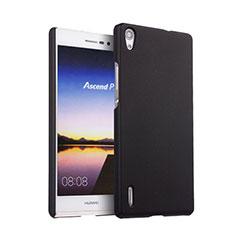 Huawei P7 Dual SIM用ハードケース プラスチック 質感もマット ファーウェイ ブラック