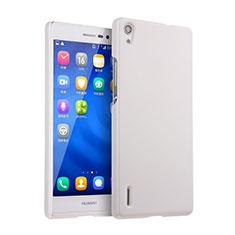 Huawei P7 Dual SIM用ハードケース プラスチック 質感もマット ファーウェイ ホワイト