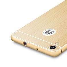 Huawei P7 Dual SIM用ケース 高級感 手触り良い アルミメタル 製の金属製 バンパー ファーウェイ ゴールド