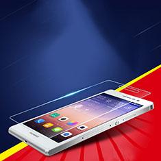 Huawei P7 Dual SIM用強化ガラス 液晶保護フィルム T02 ファーウェイ クリア