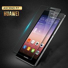 Huawei P7 Dual SIM用強化ガラス 液晶保護フィルム T03 ファーウェイ クリア