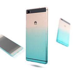 Huawei P8用極薄ソフトケース グラデーション 勾配色 クリア透明 ファーウェイ ネイビー