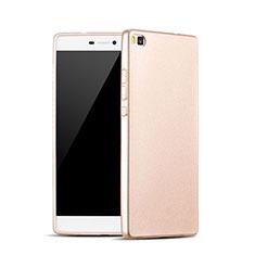 Huawei P8用シリコンケース ソフトタッチラバー ファーウェイ ゴールド