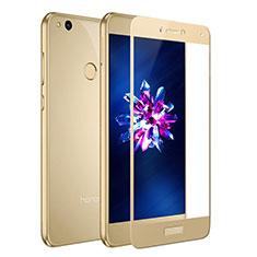 Huawei P8 Lite (2017)用強化ガラス フル液晶保護フィルム F02 ファーウェイ ゴールド