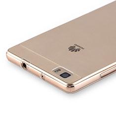 Huawei P8 Lite用極薄ソフトケース シリコンケース 耐衝撃 全面保護 クリア透明 カバー ファーウェイ クリア