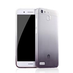 Huawei P8 Lite Smart用極薄ソフトケース グラデーション 勾配色 クリア透明 Q01 ファーウェイ ブラック