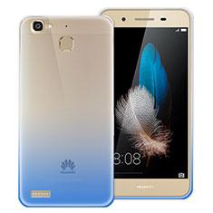 Huawei P8 Lite Smart用極薄ソフトケース グラデーション 勾配色 クリア透明 ファーウェイ ネイビー