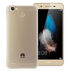 Huawei P8 Lite Smart用極薄ソフトケース シリコンケース 耐衝撃 全面保護 クリア透明 T06 ファーウェイ グレー