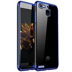 Huawei P8 Lite Smart用極薄ソフトケース シリコンケース 耐衝撃 全面保護 クリア透明 H01 ファーウェイ ネイビー