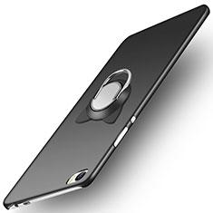 Huawei P8 Max用ハードケース プラスチック 質感もマット アンド指輪 ファーウェイ ブラック