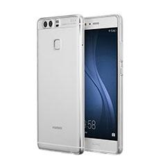 Huawei P9用極薄ソフトケース シリコンケース 耐衝撃 全面保護 クリア透明 ファーウェイ クリア