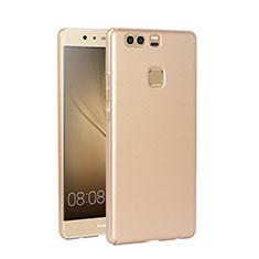 Huawei P9用ハードケース プラスチック 質感もマット ファーウェイ ゴールド