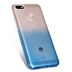 Huawei P9 Lite Mini用極薄ソフトケース グラデーション 勾配色 クリア透明 ファーウェイ ネイビー