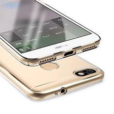 Huawei P9 Lite Mini用極薄ソフトケース シリコンケース 耐衝撃 全面保護 クリア透明 T05 ファーウェイ クリア