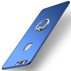 Huawei P9 Plus用ハードケース プラスチック 質感もマット アンド指輪 A01 ファーウェイ ネイビー