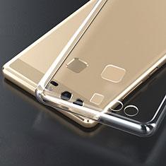 Huawei P9 Plus用極薄ソフトケース シリコンケース 耐衝撃 全面保護 クリア透明 T04 ファーウェイ クリア