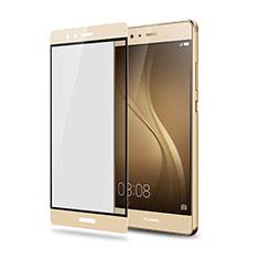 Huawei P9 Plus用強化ガラス フル液晶保護フィルム F05 ファーウェイ ゴールド