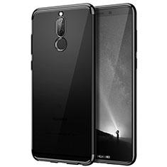 Huawei Rhone用ハイブリットバンパーケース クリア透明 プラスチック ファーウェイ ブラック