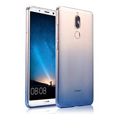 Huawei Rhone用極薄ソフトケース グラデーション 勾配色 クリア透明 ファーウェイ ネイビー