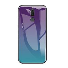 Huawei Rhone用ハイブリットバンパーケース プラスチック 鏡面 虹 グラデーション 勾配色 カバー ファーウェイ マルチカラー