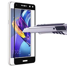 Huawei Y5 (2017)用強化ガラス フル液晶保護フィルム ファーウェイ ブラック