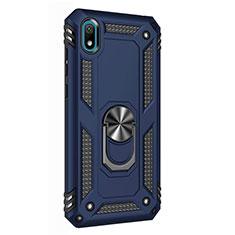 Huawei Y5 (2019)用ハイブリットバンパーケース プラスチック アンド指輪 マグネット式 ファーウェイ ネイビー