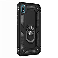 Huawei Y5 (2019)用ハイブリットバンパーケース プラスチック アンド指輪 マグネット式 ファーウェイ ブラック