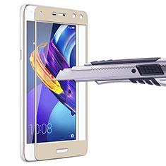 Huawei Y5 III Y5 3用強化ガラス フル液晶保護フィルム ファーウェイ ゴールド