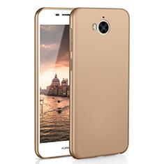 Huawei Y6 (2017)用ハードケース プラスチック 質感もマット M01 ファーウェイ ゴールド