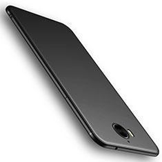 Huawei Y6 (2017)用極薄ソフトケース シリコンケース 耐衝撃 全面保護 S01 ファーウェイ ブラック