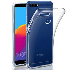 Huawei Y6 (2018)用極薄ソフトケース シリコンケース 耐衝撃 全面保護 クリア透明 カバー ファーウェイ クリア