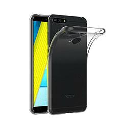 Huawei Y6 (2018)用極薄ソフトケース シリコンケース 耐衝撃 全面保護 クリア透明 T02 ファーウェイ クリア