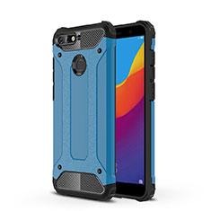 Huawei Y6 (2018)用極薄ソフトケース シリコンケース 耐衝撃 全面保護 クリア透明 H01 ファーウェイ ネイビー