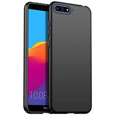 Huawei Y6 (2018)用ハードケース プラスチック 質感もマット P01 ファーウェイ ブラック