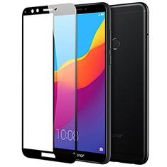 Huawei Y6 (2018)用強化ガラス フル液晶保護フィルム F03 ファーウェイ ブラック