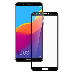 Huawei Y6 (2018)用強化ガラス フル液晶保護フィルム F02 ファーウェイ ブラック