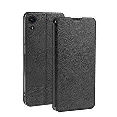 Huawei Y6 (2019)用手帳型 レザーケース スタンド L01 ファーウェイ ブラック