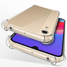 Huawei Y6 (2019)用極薄ソフトケース シリコンケース 耐衝撃 全面保護 クリア透明 T12 ファーウェイ クリア