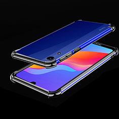 Huawei Y6 (2019)用極薄ソフトケース シリコンケース 耐衝撃 全面保護 クリア透明 H01 ファーウェイ ブラック