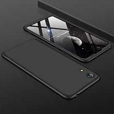 Huawei Y6 (2019)用ハードケース プラスチック 質感もマット 前面と背面 360度 フルカバー ファーウェイ ブラック