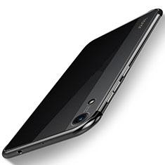 Huawei Y6 (2019)用極薄ソフトケース シリコンケース 耐衝撃 全面保護 クリア透明 H02 ファーウェイ ブラック