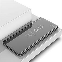 Huawei Y6 (2019)用手帳型 レザーケース スタンド 鏡面 カバー ファーウェイ ブラック