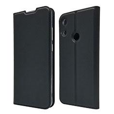 Huawei Y6 (2019)用手帳型 レザーケース スタンド カバー L03 ファーウェイ ブラック