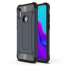 Huawei Y6 (2019)用360度 フルカバー極薄ソフトケース シリコンケース 耐衝撃 全面保護 バンパー ファーウェイ ネイビー