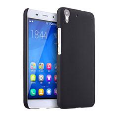 Huawei Y6用ハードケース プラスチック 質感もマット ファーウェイ ブラック