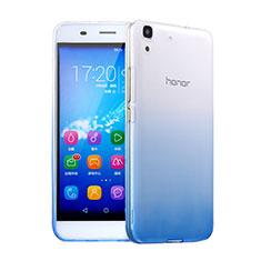 Huawei Y6用極薄ソフトケース グラデーション 勾配色 クリア透明 ファーウェイ ネイビー