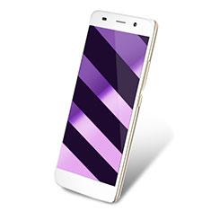 Huawei Y6用アンチグレア ブルーライト 強化ガラス 液晶保護フィルム ファーウェイ ネイビー