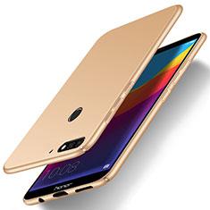 Huawei Y6 Prime (2018)用ハードケース プラスチック 質感もマット M01 ファーウェイ ゴールド