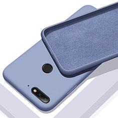 Huawei Y6 Prime (2018)用360度 フルカバー極薄ソフトケース シリコンケース 耐衝撃 全面保護 バンパー S01 ファーウェイ ネイビー